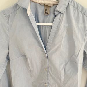 Baby blue collared shirt